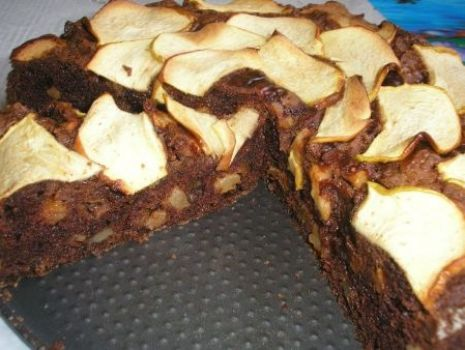 Przepis: ciasto kakaowe z orzechami