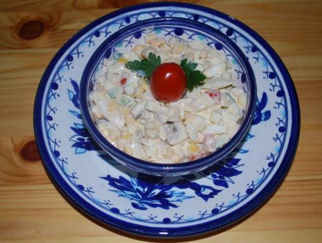 Przepis: Wielkanocna sałatka z jajkiem wg Potok