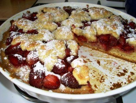 Przepis: Kruche ciasto z truskawkami wg Aleex