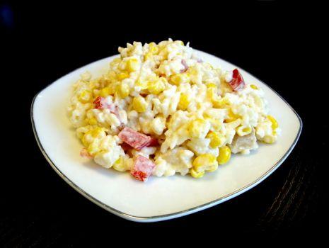 Przepis: Sałatka ryżowa  z kurczakiem i ananasem
