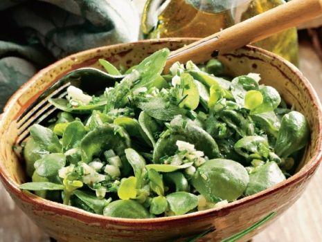 Przepis: Salatka - roszponka z szalotką