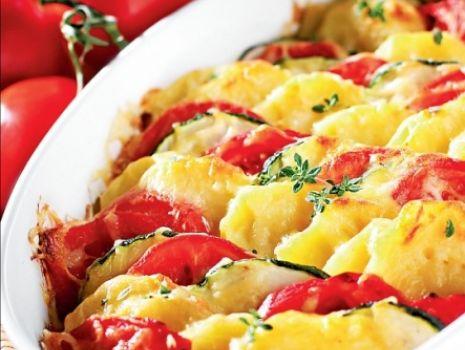 Przepis: Zapiekanka pomidorowa z cukiną