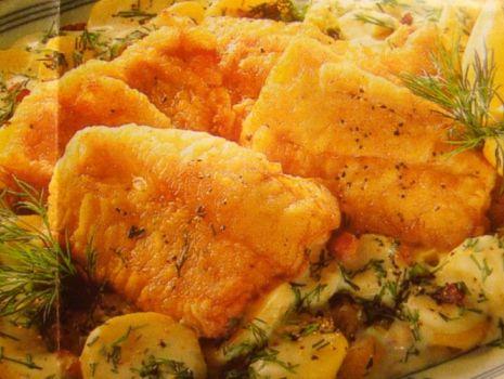Przepis: Ryba z ziemniakami pod beszamelem