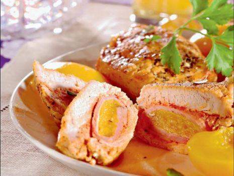 Przepis: Sakiewki z brzoskwinią