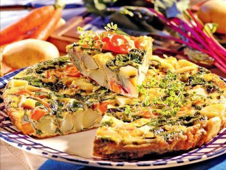 Przepis: Tortilla z botwinką i ziołami