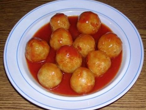 Przepis: Pulpeciki w sosie pomidorowym wg Aleex