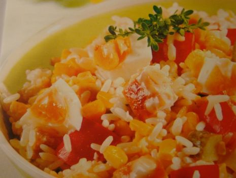 Przepis: Sałatka ryżowa z kurczakiem