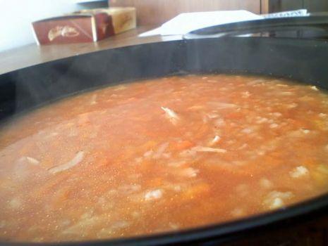 Przepis: Krupnik pomidorowy