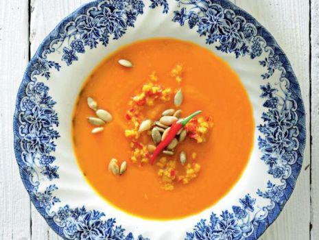 Przepis: Zupa z dyni z pomarańczową gremolatą