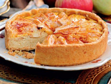 Przepis: Placek serowo-jabłkowy