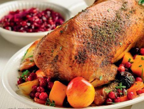 Przepis: Gęś pieczona z jesiennymi warzywami