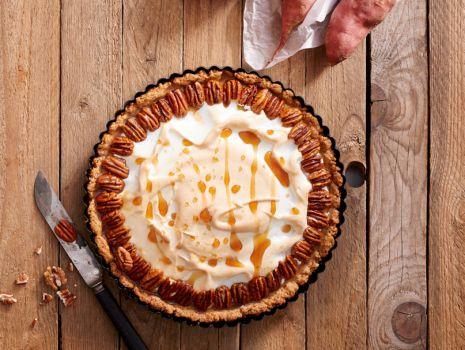 Przepis: Tarta ze słodkich ziemniaków z pekanami