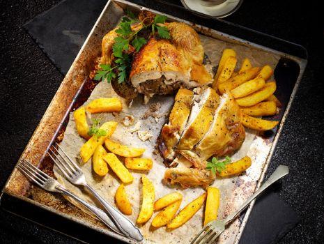 Przepis: Kurczak faszerowany wątróbką