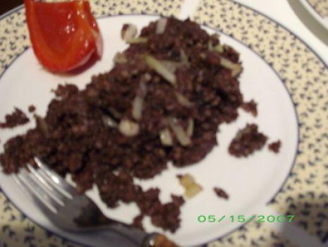 Przepis: Kaszanka z cebulą