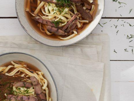 Przepis: Zupa grzybowa na wołowinie