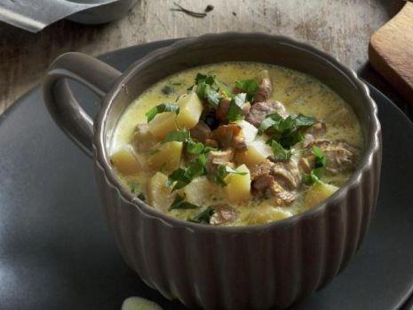 Przepis: Zupa grzybowa - rydzowa na boczku