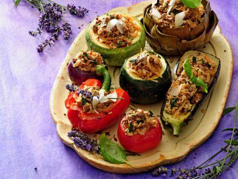 Przepis: Faszerowane prowansalskie warzywa