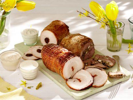 Przepis: Zimny półmisek mięs z trzema sosami