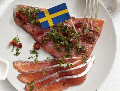 Przepis: Szwedzki gravlax - łosoś marynowany
