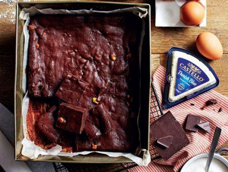 Przepis: Brownie z serem castello danish blue