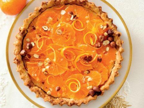 Przepis: Tarta mandarynkowa z orzechami