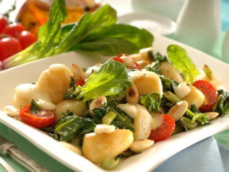 Przepis: Ziemniaki ze szpinakiem i mozzarellą