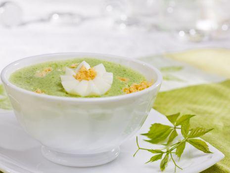 Przepis: Zupa ze szpinakiem