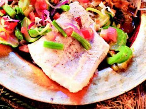 Przepis: Ryba kole kole z warzywami