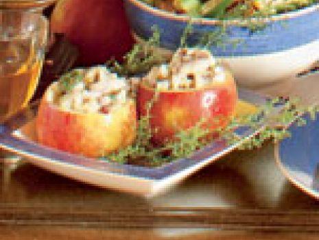 Przepis: Faszerowane jablka