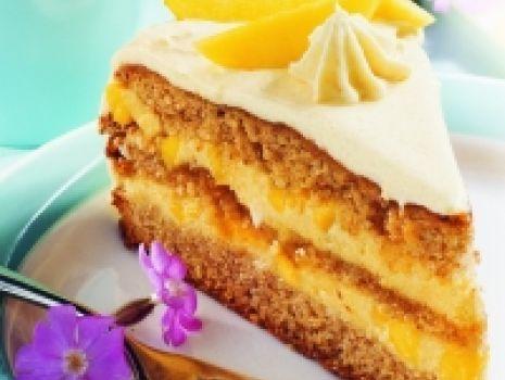 Przepis: Tort brzoskwioniowy
