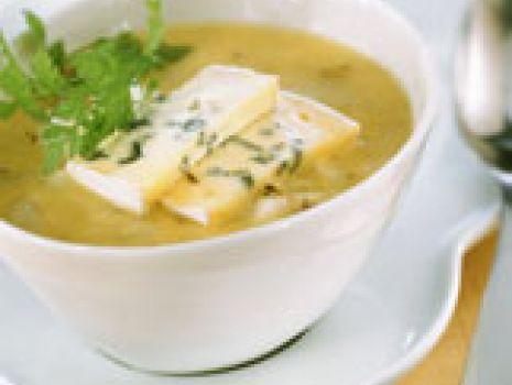 Przepis: Zupa porowa z gruszką