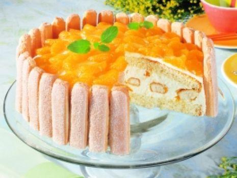 Przepis: Tort mandarynkowy