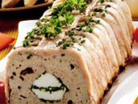 Przepis: Pasztet mięsno-grzybowo-ziołowy