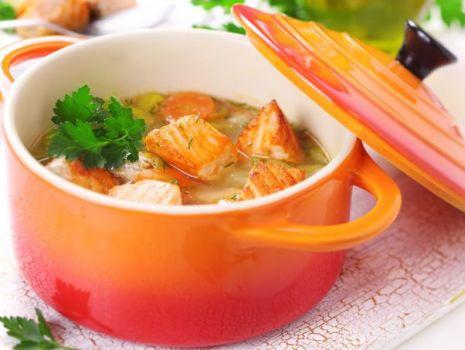 Przepis: Zupa rybna z marchewką