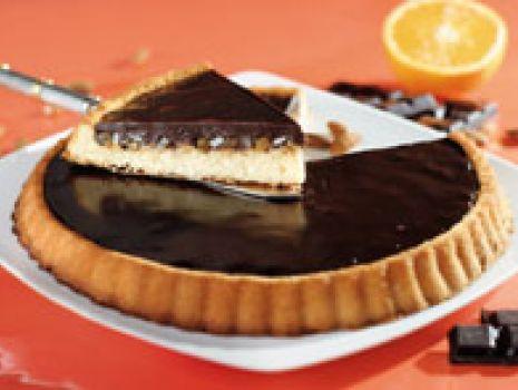 Przepis: Tarta czekoladowo-migdałowa