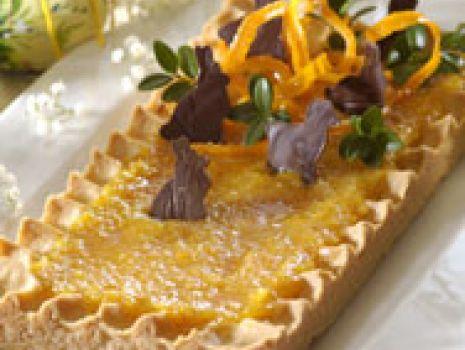 Przepis: Mazurek pomarańczowy
