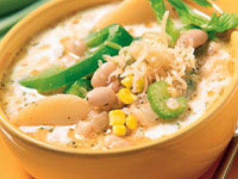 Przepis: Zupa kukurydziano - fasolowa