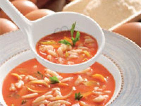 Przepis: Pomidorowo-kartoflana z zacierkami