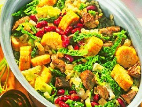 Przepis: Jesienny garnek z kukurydzą i wołowiną