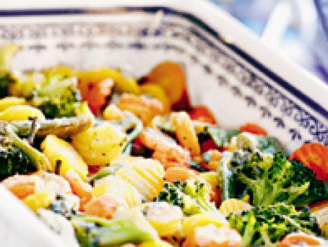 Przepis: Zapiekanka warzywna z sosem