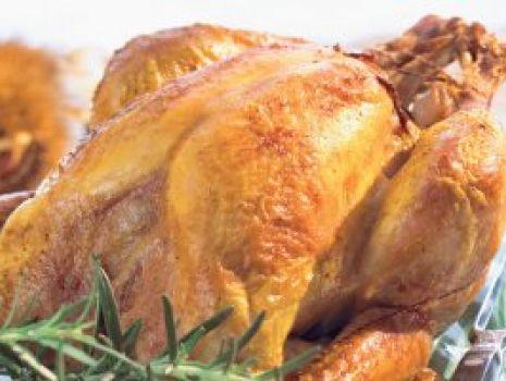 Przepis: Kurczak z farszem mięsno-bakaliowym