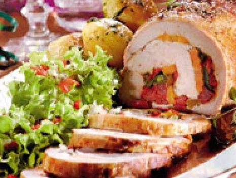 Przepis: Rolada wieprzowa z warzywami
