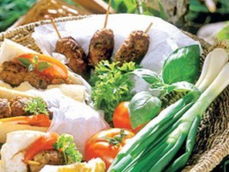 Przepis: Bagietki z kebabem