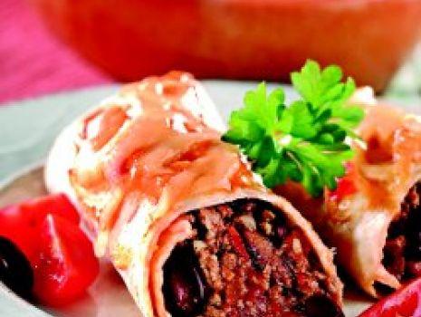 Przepis: Burritos zapiekane