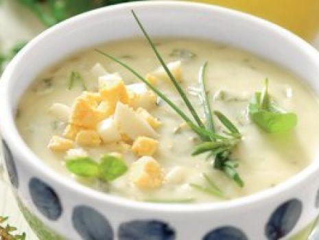 Przepis: Zupa ziołowa z  jajkami