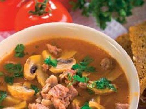 Przepis: Zupa ogonowa z pieczarkami