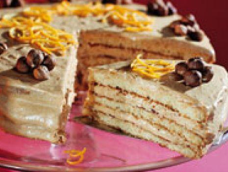 Przepis: Tort z kremem kajmakowym