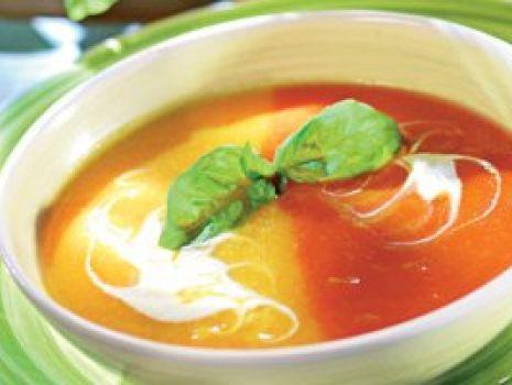 Przepis: Dwukolorowa zupa paprykowa