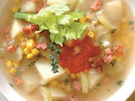 Przepis: Zupa kukurydziana z papryką