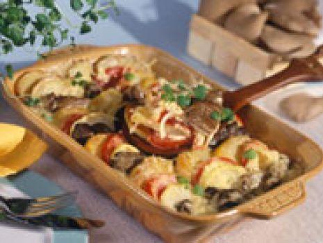 Przepis: Zapiekanka warzywno-grzybowa